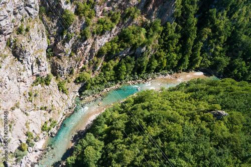 Kanion rzeki Tary. Czarnogóry. - fototapety na wymiar