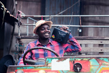 African Farmer Man With Retro ...