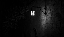 Spooky Black And White Alley W...