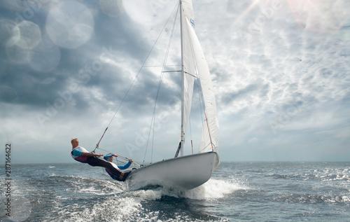 Cuadros en Lienzo Sailing yacht race. Yachting. Sailing regatta.
