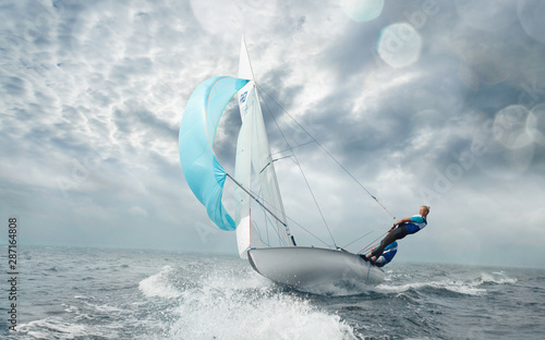 Fotografia Sailing yacht race. Yachting. Sailing regatta.