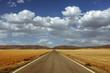 Straight road to the horizon.