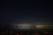 Beautiful Starlit Night Sky Glowing Up The Dark