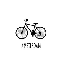 Black Silhouette Bicycle With ...