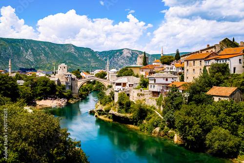 The beautiful old bridge of Mostar