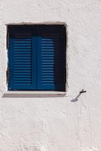Greek Blue Window Shutters