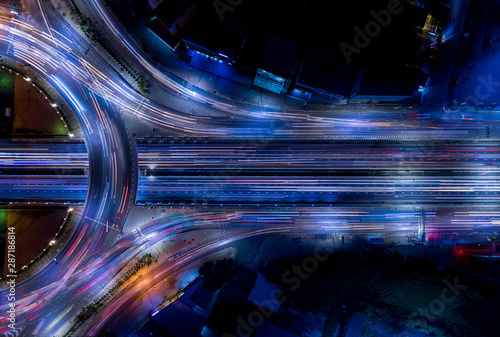 Electron of Traffic light tail that show it is a life build of infrastructure ro Wallpaper Mural