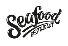 Seafood Brushlettering