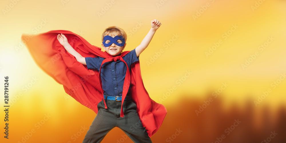 Fototapety, obrazy: funny male superhero