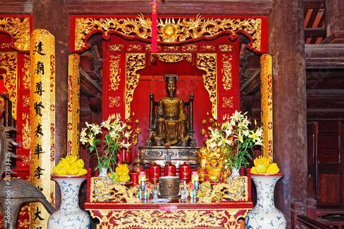 Valokuva  Confucius altar inside of the Literature Temple (Van Mieu), Hanoi, Vietnam