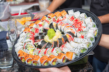 Huge Sushi Platter During A Di...