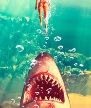 Great White Shark Attack,3d Il...