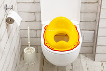 Yellow Lid For Toilet Seat For...