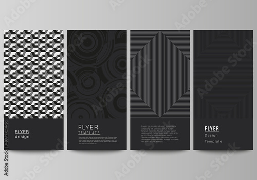Photo sur Toile Les Textures The minimalistic vector illustration of the editable layout of flyer, banner design templates. Trendy geometric abstract background in minimalistic flat style with dynamic composition.