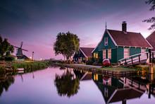 Zaanse Schans Windmill Village...