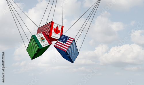 USMCA North America Trade Wallpaper Mural
