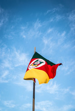 A Beautiful View Of Brazil State Flag (bandeira Do Rio Grande Do Sul)