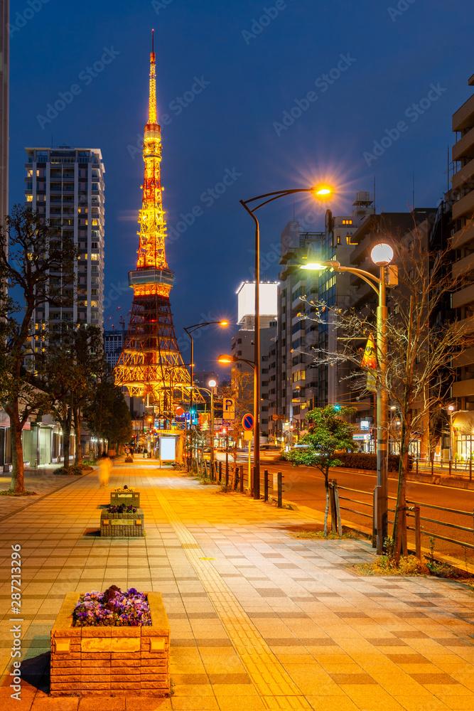 Fototapety, obrazy: Tokyo Tower sunset