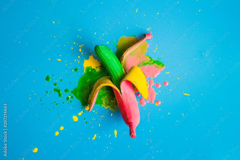 Fototapeta Painted in different colors banana