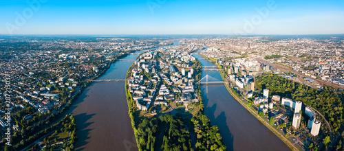 Fotografering Nantes aerial panoramic view, France
