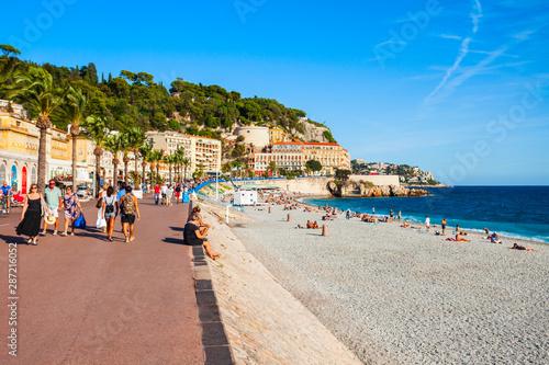 Obraz na plátně Promenade des Anglais in Nice