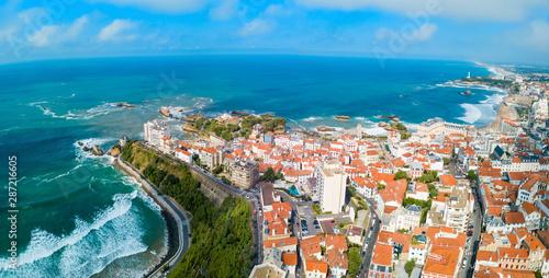Biarritz aerial panoramic view, France Wallpaper Mural