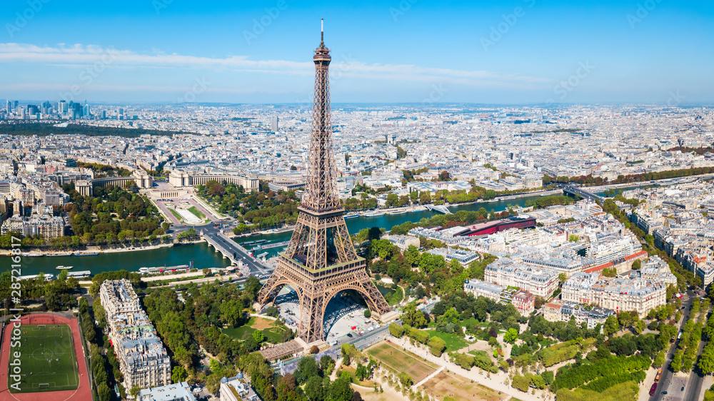 Fototapety, obrazy: Eiffel Tower aerial view, Paris