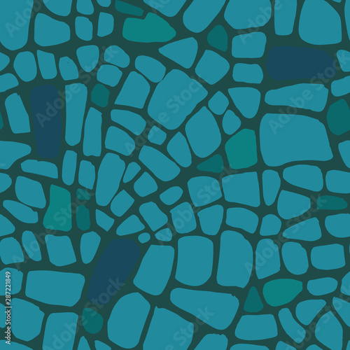 Cuadros en Lienzo  Abstract repeating geometric background with chaotic texture