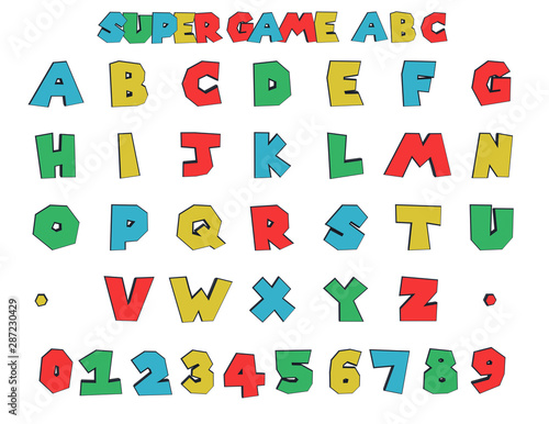 super Video game Alphabet - 3D Illustration Canvas Print
