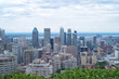 Montreal city skyline from Mont-Royal belvedere