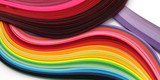 Fototapeta Tęcza - Abstract color rainbow strip paper background. Template for prints, posters, cards. .