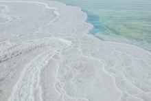Dead Sea. Salt At The Bottom Of The Dead Sea