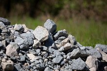 Gravel Pile At The Edge Of The...