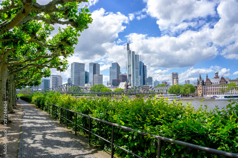 Fototapety, obrazy: Frankfurt financial district skyline