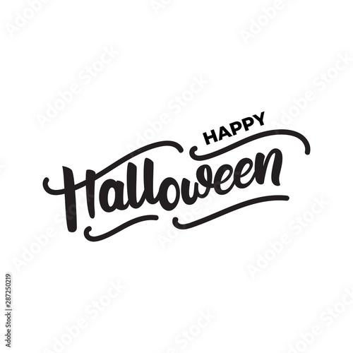 Fényképezés  Happy Halloween - lettering card design. Vector illustration.