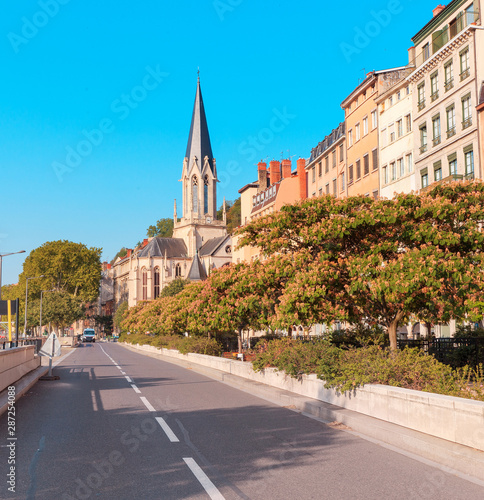 Canvastavla St. Georges Eglise church famous landmark in Lyon city
