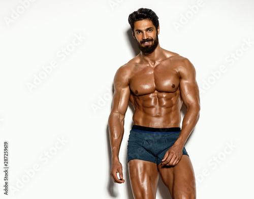 Fototapeta  Handsome Athletic Men Posing in Underwear