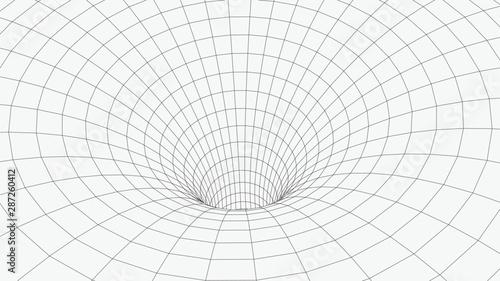Fototapeta tunel  szkieletowy-tunel-3d-perspektywa-tekstura-tlo-siatki-siatkowy-model-tunelu-czasoprzestrzennego-ill-wektor