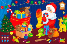 Santa Claus Collects Gifts Chi...
