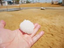 死海の海底から採取した塩のかたまり
