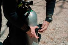 Diving Equipment On The Sea Sa...