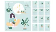 Monthly Calendar 2020. Cute Pr...