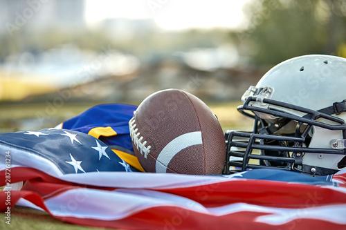 American football concept Canvas Print