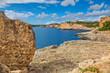 Landscape with rocks over the sea under the sky.Mallorca island