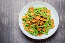 Stir Fried String Green Bean With Vietnamese Grilled Pork Sausage