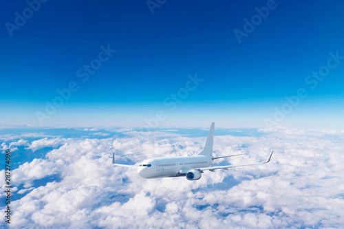Fototapete - 旅客機 飛行