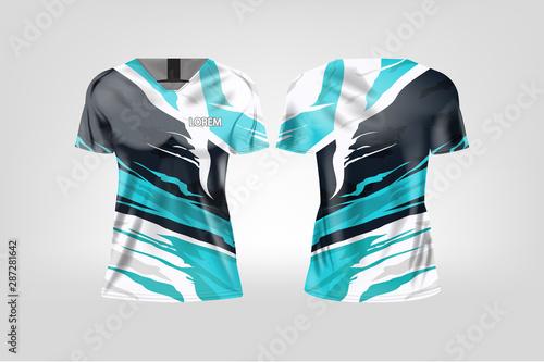 Obraz na plátně t-shirt sport design for women, Soccer jersey mockup for football club