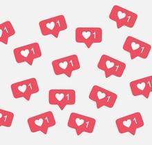 Notification Instagram Like Background Vector Pattern
