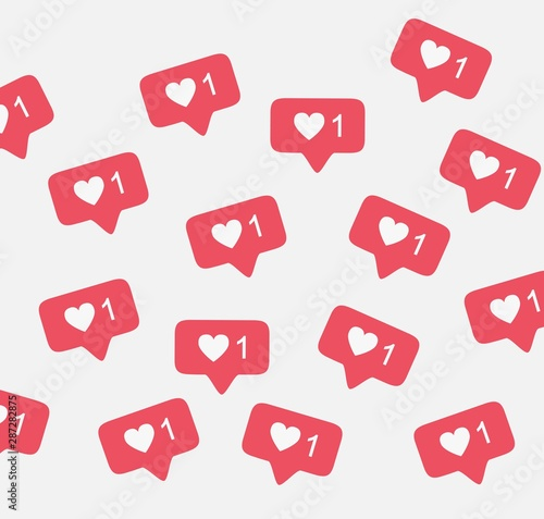 Pinturas sobre lienzo  Notification instagram like background vector pattern