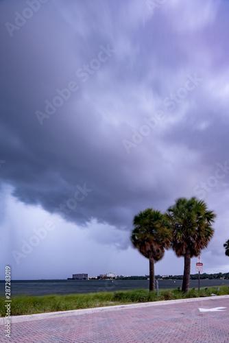 Overcast from Hurricane Dorian in Miami FL USA September 2019